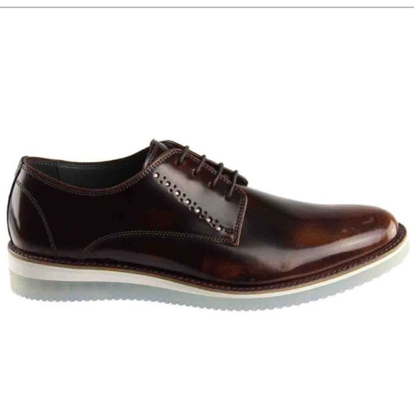 825881c31a4 STEVE MADDEN mens brown Intern lace up shoes NWT